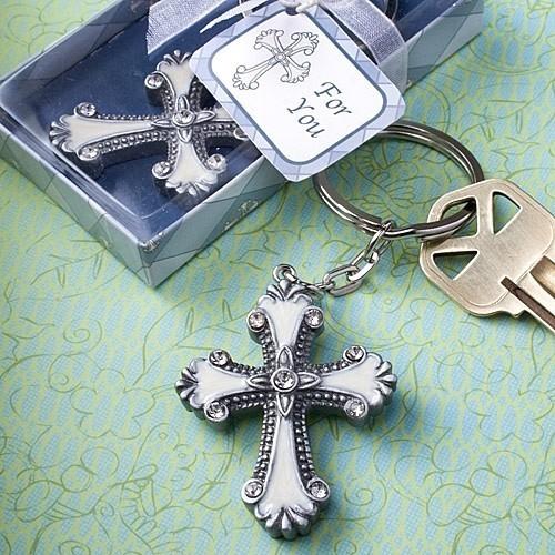 FashionCraft Cross Design Keychain Favor