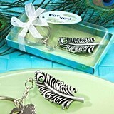 FashionCraft Splendid Peacock-Feather-Shaped Keychain