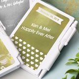 FashionCraft Metallics Collection Personalized Notebook (Wedding)