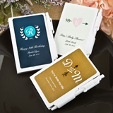 FashionCraft Monogram Collection Personalized White Plastic Notebook