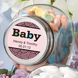Personalized Expressions Collection Glass Candy Jar (Baby Shower)
