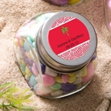 Personalized Expressions Collection Glass Candy Jar (Beach)