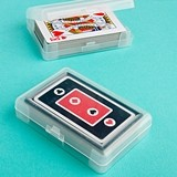 FashionCraft Perfectly Plain Collection Playing Cards in Plastic Case