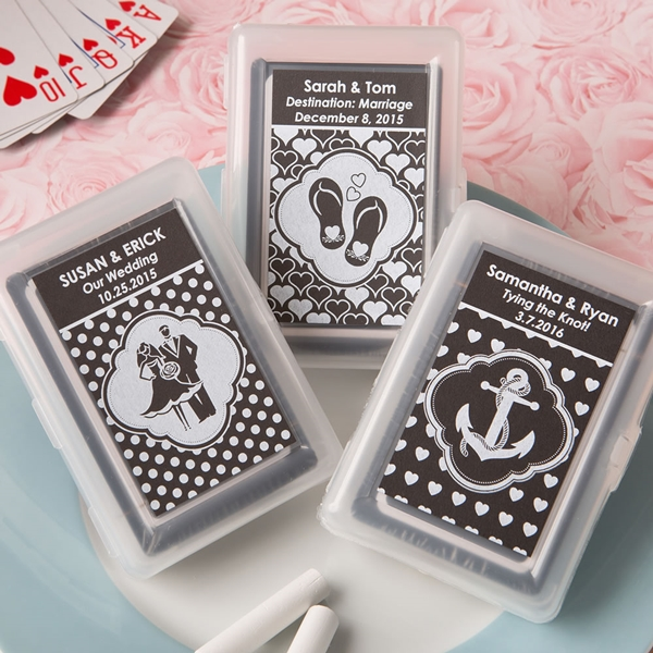 Chalk Board Collection Playing Card Decks with Personalized Stickers