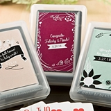 Vintage Design Collection Playing Card Deck with Personalized Sticker