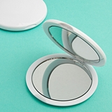 FashionCraft Perfectly Plain Collection White Polyresin Compact Mirror