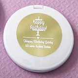 Metallics Collection Personalized White Compact Mirror (Birthday)