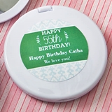 Expressions Collection Personalized White Compact Mirror (Birthday)