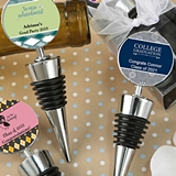 FashionCraft Wine Bottle Stoppers w/ Personalized Graduation Stickers