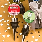 FashionCraft Wine Bottle Stoppers with Custom Holiday Designs Stickers