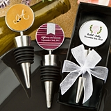 FashionCraft Wine Bottle Stoppers with Monogram Design Stickers