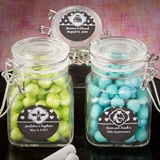 Personalized Chalkboard Collection Apothecary Glass Jar w/ Hinged Lid