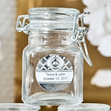 Personalized Metallics Collection Apothecary Glass Jar with Hinged Lid