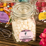 Personalized Expressions Collection Apothecary Glass Jar w/ Hinged Lid