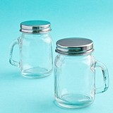 FashionCraft Perfectly Plain Collection Glass Mason Jar with Handle