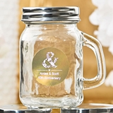 Personalized Metallics Collection 4oz Glass Mason Jar with Handle