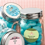 Personalized Expressions Collection 4oz Glass Mason Jar (Baby Shower)