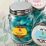 Personalized Expressions Collection 4oz Glass Mason Jar with Handle
