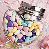 FashionCraft Perfectly Plain Collection Heart-Shaped Glass Jar