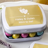 FashionCraft Personalized Metallics Collection White Mint Tins