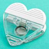 FashionCraft Perfectly Plain Collection Heart-Shaped Memo Clip Magnet