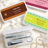 FashionCraft Expressions Collection Personalized Travel Manicure Set