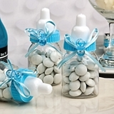 Perfectly Plain Collection Blue Baby Bottle with Pacifier Charm