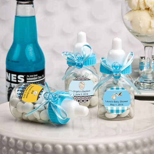 Design Your Own Collection Blue Baby Bottle (Baby Shower Designs)