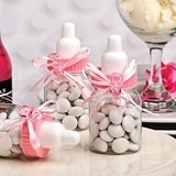 Perfectly Plain Collection Pink Baby Bottle with Pacifier Charm