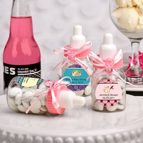 Design Your Own Collection Pink Baby Bottle (Baby Shower Designs)