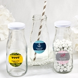 Personalized Expressions Collection Vintage Style Milk Bottle with Lid