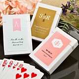 FashionCraft Playing Cards Deck in Box with Custom Monogram Sticker