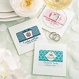 Clearly Custom Collection Personalized Milky White Glass Coasters