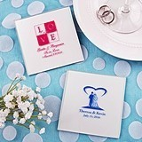 FashionCraft Silkscreened Collection Personalized Glass Coasters