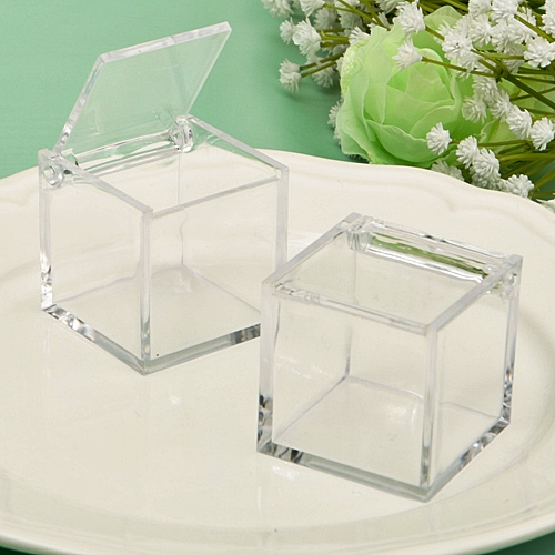Fashioncraft Perfectly Plain Collection Clear Acrylic Cube