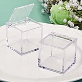 FashionCraft Perfectly Plain Collection Clear Acrylic Cube-Shaped Box
