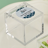 Personalized Expressions Clear Acrylic Cube-Shaped Box (Baby Shower)