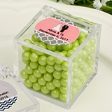Personalized Expressions Collection Clear Acrylic Cube-Shaped Box