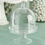 FashionCraft Perfectly Plain Collection Clear Acrylic Mini Cake Stand