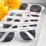 FashionCraft White UV400 Sunglasses with Personalized Stickers