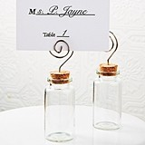 Perfectly Plain Corked Glass Jar with Photo/Place Card Holder