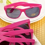 FashionCraft Perfectly Plain Collection Hot Pink UV400 Sunglasses