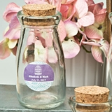 Personalized Expressions Vintage-Look Milk Bottle with Round Cork Top