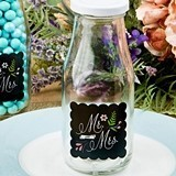 FashionCraft Sayings Collection Mr & Mrs Design Vintage Milk Bottle