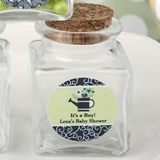 Personalized Expressions Square Glass Treat Jar (Baby Shower Designs)