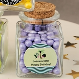Personalized Expressions Collection Square Glass Treat Jar (Birthday)