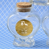 Personalized Metallics Collection Heart-Shaped Glass Jar (Baby Shower)