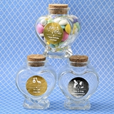 Personalized Metallics Collection Heart-Shaped Glass Jar (Celebrations)