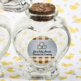 Personalized Expressions Heart-Shaped Glass Jar (Baby Shower Designs)