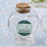 Personalized Expressions Heart-Shaped Glass Jar (Graduation Designs)